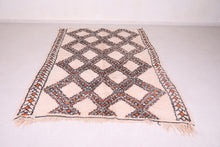 Vintage Moroccan area rug 5.8ft x 8.7ft