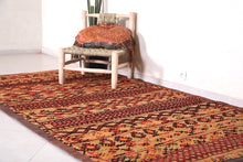 Old Morocco Straw Rug 5.2 FT X 9.3 FT