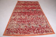 Moroccan Bohemian Straw Rug 5.6 FT X 10.1 FT