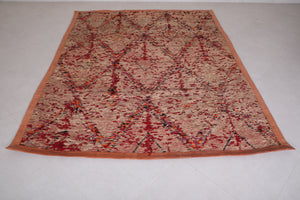 Hassira Straw Mat with Wool and Leather 6.2 FT X 9.7 FT