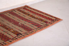 Khemisset Old Straw Berber Mat (3.7ft x 5.1ft)