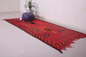 Moroccan rug red 4.4 FT X 9.4 FT
