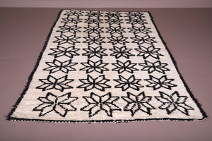 Vintage beni ourain rug 5.4 FT x 9 FT