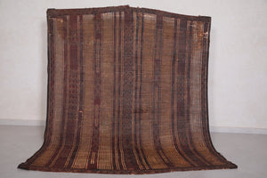 Tuareg Mat Natural Reed & Leather (5.8ft X 7.2ft)