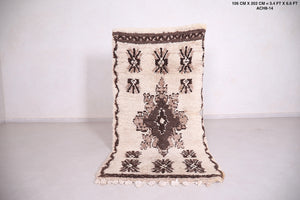 Small vintage berber rug, 3.4 ft x 6.6 ft
