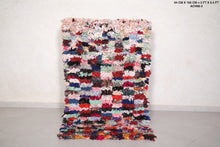Boucherouite rug, 3 FT X 5.4 FT, Fabulous colors,