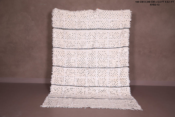 Vintage berber wedding blanket, 5.5 ft x 8.1 ft