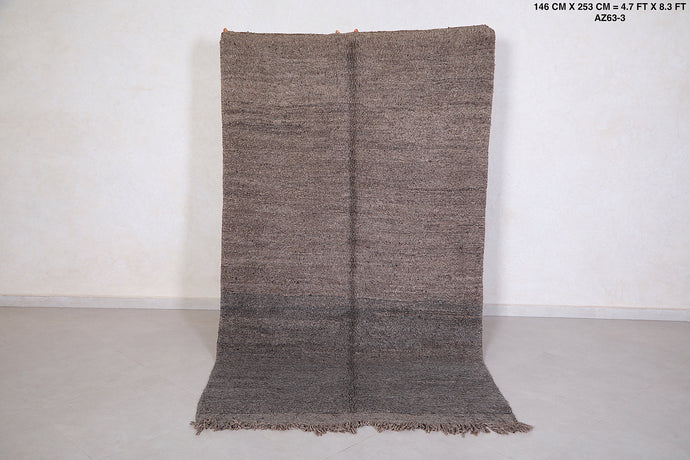Grey Beni ourain rug, 4.7 ft x 8.3 ft