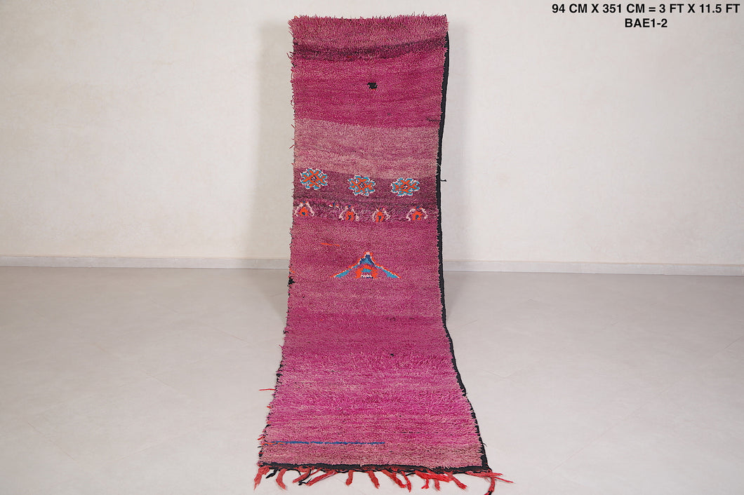 Runner moroccan rug, 3 FT X 11.5 FT