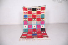 Colorful Berber rug 3.4 FT X 5.9 FT