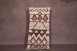 Beni ourain Moroccan rug 2.5 FT X 5.7 FT