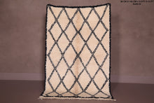 Small Beni ourain rug, 2.9 ft x 4.5 ft