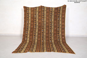 Old African kilim 4.9 FT X 6.8 FT