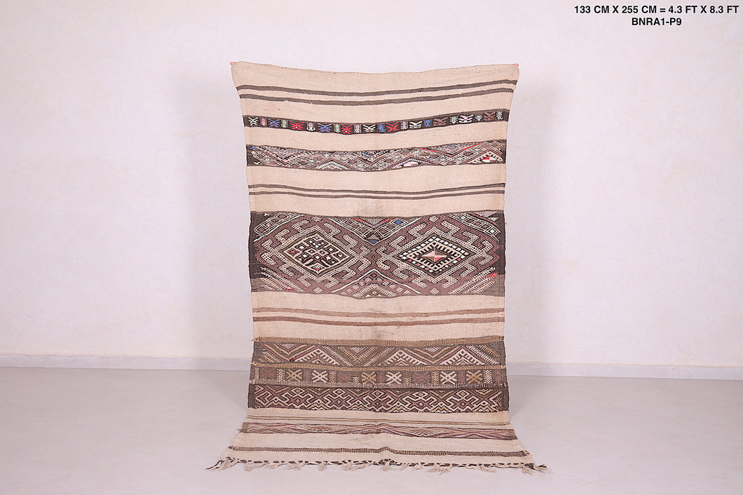 Moroccan kilim, 4.3 FT X 8.3 FT