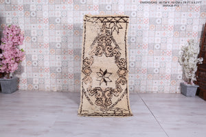 Moroccan rug, 2.6 FT X 6.2 FT