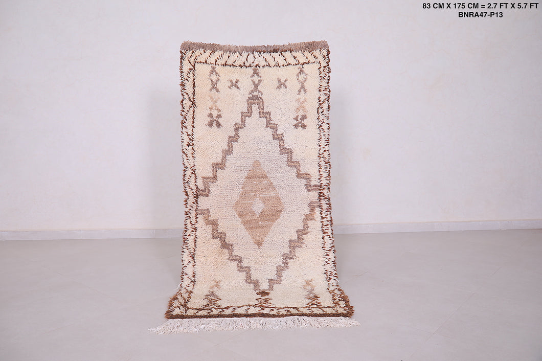 Moroccan rug,  2.7 FT X 5.7 FT