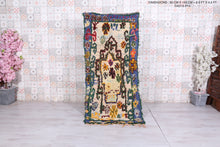 Colorful Berber rug 2.9 FT X 6.3 FT