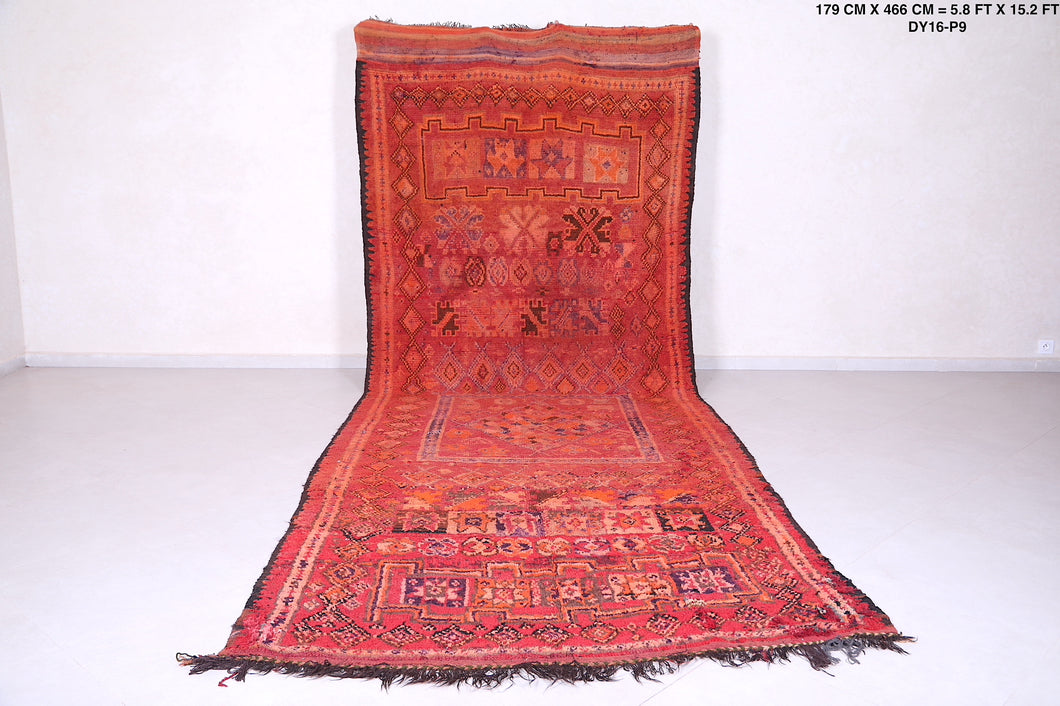 Moroccan rug red, 5.8 FT X 15.2 FT