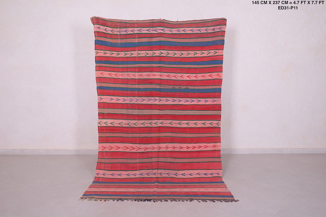 Moroccan kilim, 4.7 FT X 7.7 FT