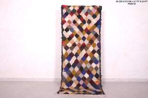 Long Berber rug, 2.7ft x 6.9ft