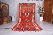 Moroccan rug, 5.3 ft x 11.4 ft