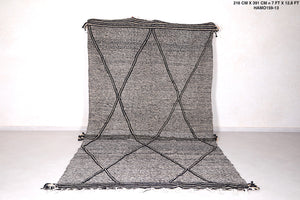 Large Moroccan Handwoven rug 7 FT X 12.8 FT
