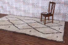 Authentic Beni ourain rug 5.6 ft x 11.2 ft