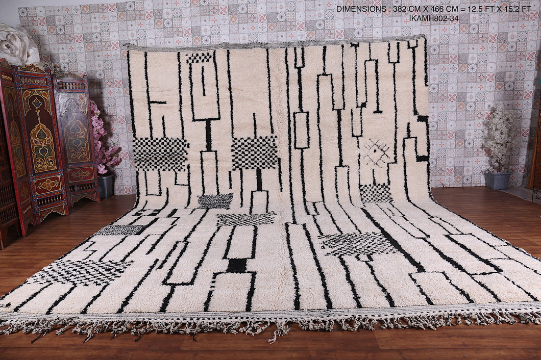 Large Moroccan rug 12.5 FT X 15.2 FT
