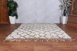 Authentic Beni Ourain rug 6.4 FT x 8.2 FT