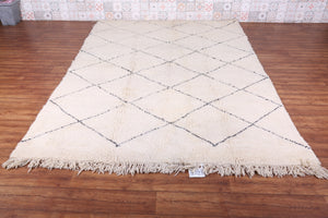 All wool Moroccan rug 6.5 FT X 9.7 FT