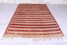 Old Moroccan Straw Hassira Mat (5.5ft x 8.8ft)