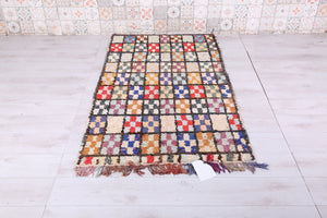 Boucherouite Colorful rug 3.4 FT X 5.9 FT