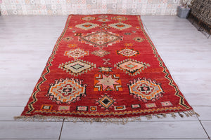 Antique Moroccan rug, 5.9 ft x 11.3 ft