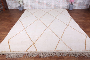 Moroccan wool rug 8.6 ft x 11.4 ft