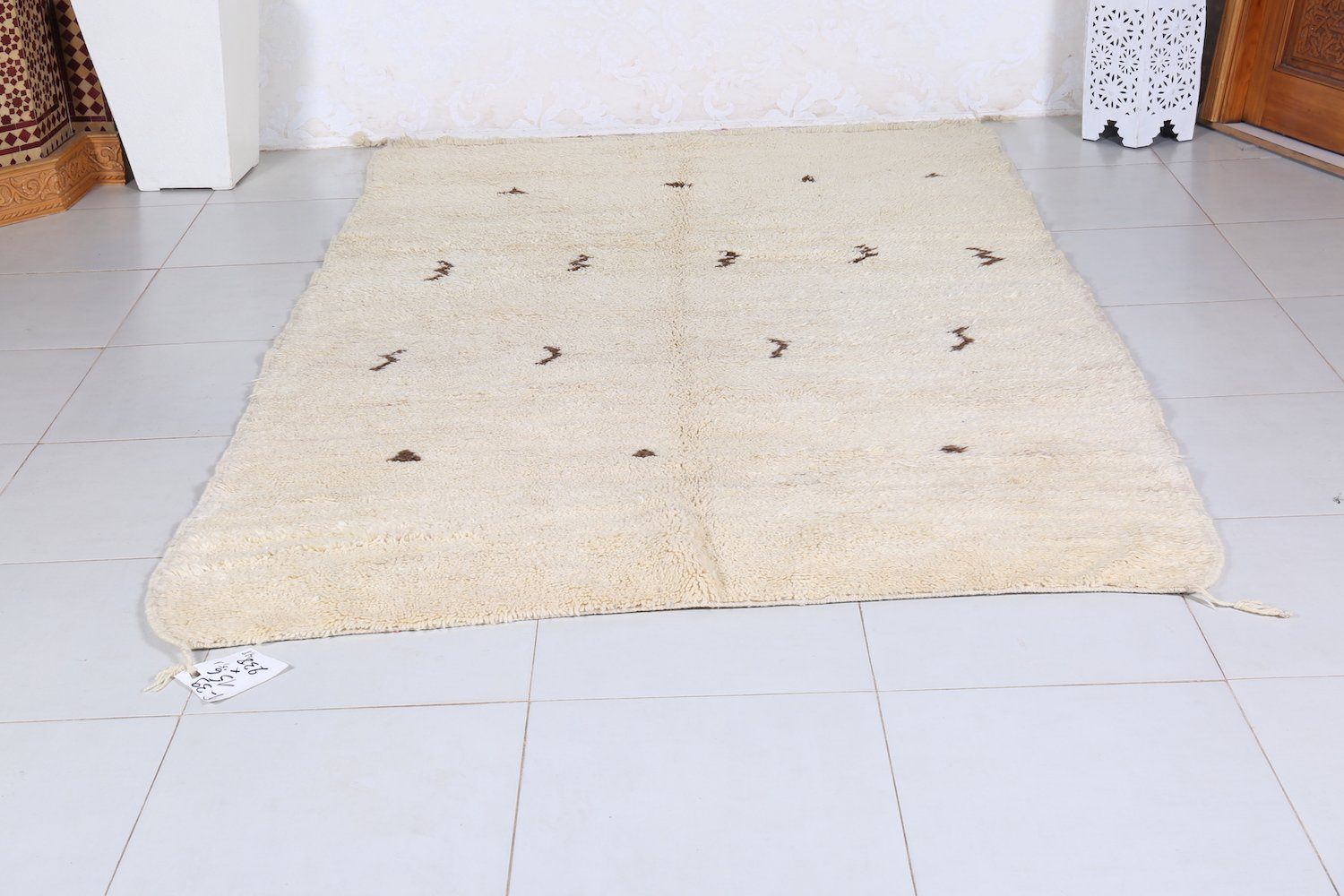 Beni Ourain rug 5.1 FT X 7.8 FT
