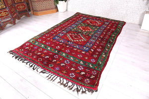 Moroccan rug 6.2 ft x 9.6 ft