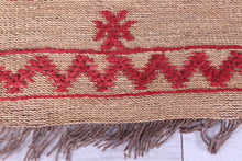 Moroccan Straw Old Mat 5.9 ft x 7.1 ft