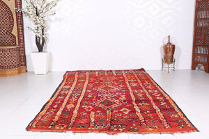 Moroccan rug, Old rug, 5.7ft x 10ft