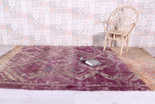 Purple Moroccan rug, 6.1 FT X 9.9 FT