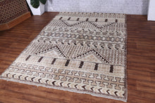 Moroccan rug,  5.6 ft x 7.7 ft