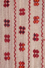 Old Moroccan Straw and Wool Hassira Berber Rug (4ft x 4.9ft)