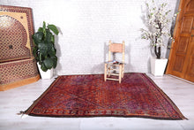 Genuine Moroccan rug, 6.1 ft x 8.1 ft