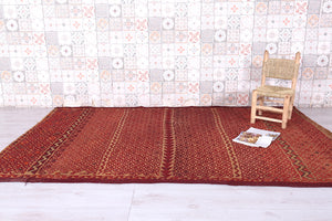 Moroccan hassira, 5.4 FT X 8.4 FT