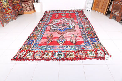 Long Moroccan rug, 6.4 ft x 12.7 ft