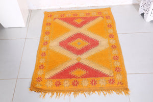 Moroccan rug, 2.5ft x 3.1ft
