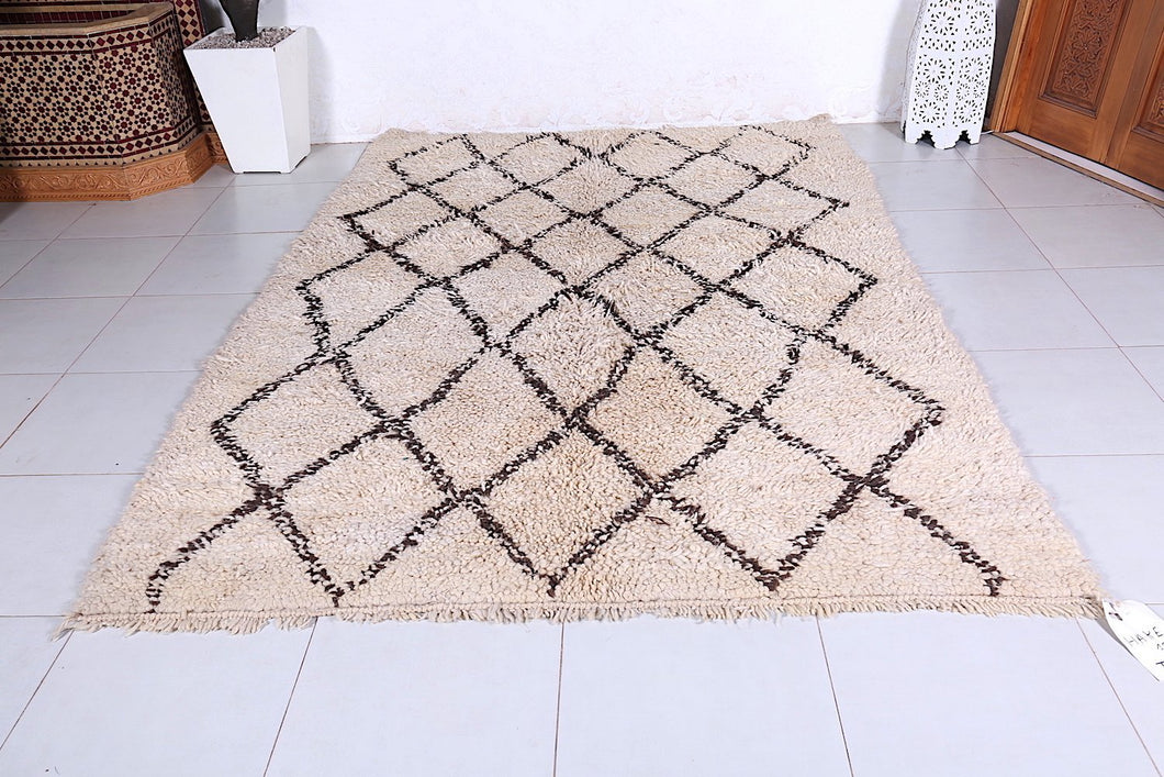 Vintage Old Beni ourain rug, 6.1ft x 8.5ft