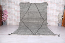Large grey Moroccan rug, 6.9 FT X 10.7 FT,