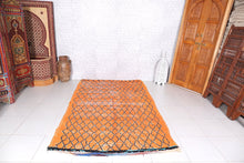 Orange Moroccan rug, 5.2ft x 8.3ft