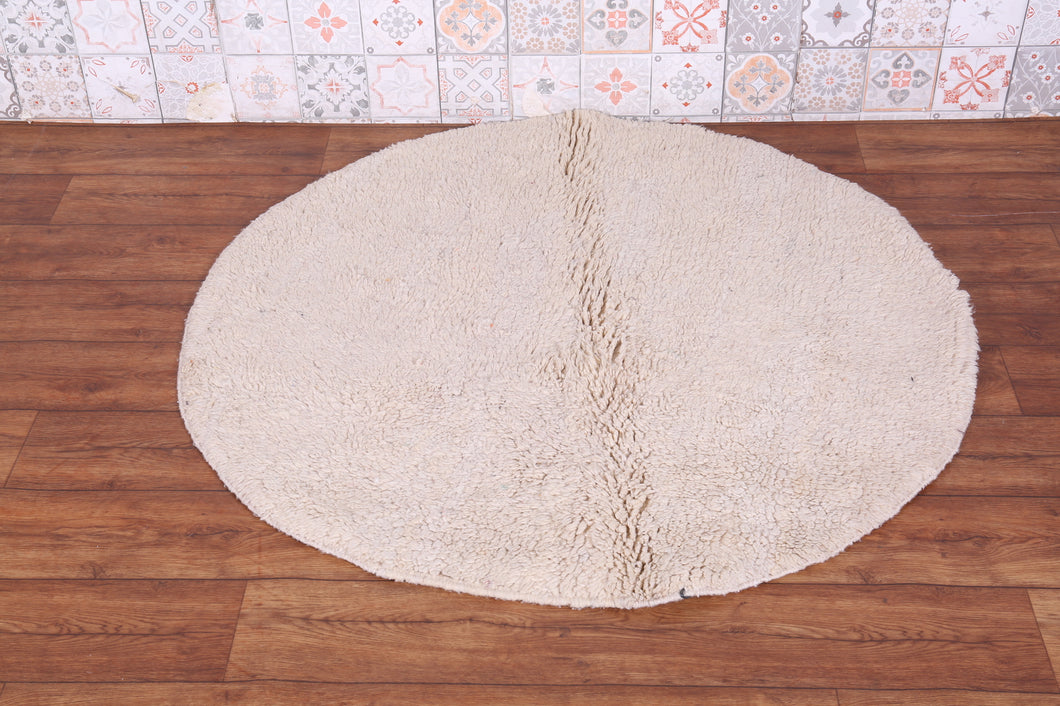 Round moroccan rug,  4 FT X 4 FT, Wool carpet