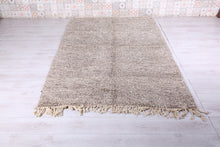 Moroccan rug, Solid gray rug, 5.2 FT X 8.3 FT